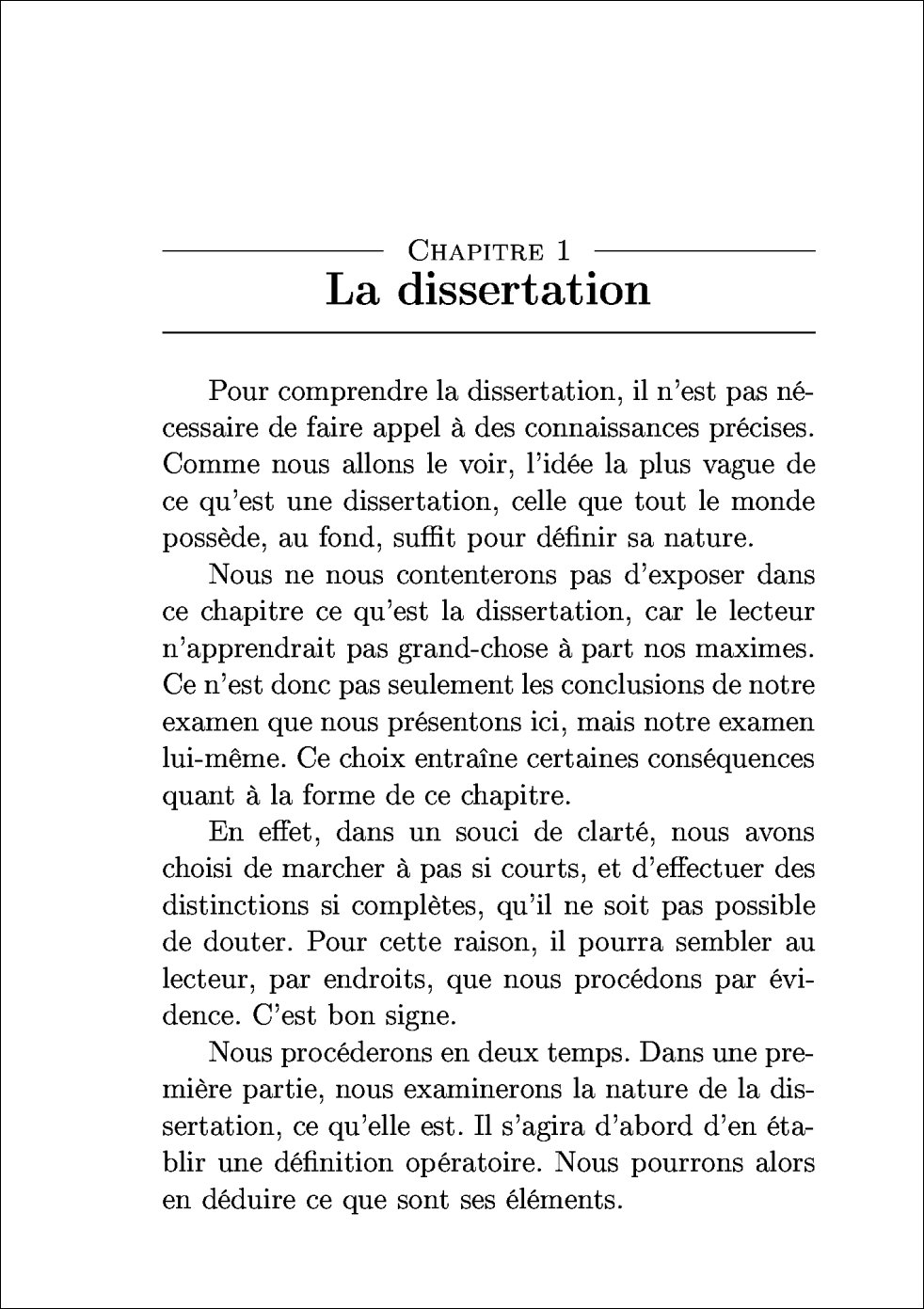 Dissertation en philo plan